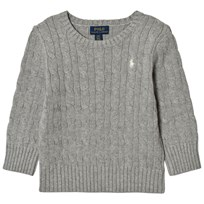 Ralph Lauren Grey Cable Long Sleeve Jumper with Small PP 005