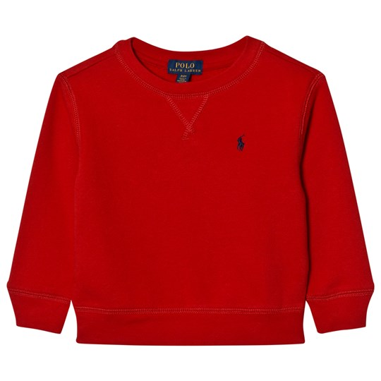 Ralph Lauren Cotton-Blend Fleece Sweatshirt Red 001