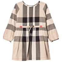 Burberry Beige Classic Check Agnes Long Sleeve Shirt Dress New Classic Check