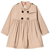 Burberry Honey Stretch Cotton Trench Dress Honey