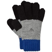Armani Junior Blue and Grey Logo Gloves 00020