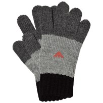 Armani Junior Black and Grey Logo Gloves 00249