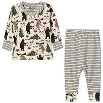 Hatley Cream Lumberjack Animal Pyjamas Cream