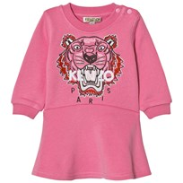 Kenzo Pink Tiger Embroidered Sweat Dress 320