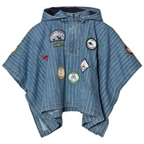 Stella McCartney Kids Denim Tambourine Blue Cape with Badge 4161