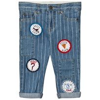 Stella McCartney Kids Lohan Unisex Blue Jeans with Badges 4161