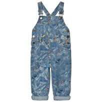 Stella McCartney Kids Blue Scribble and Skate Rudy Dungarees 4263