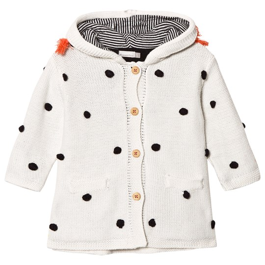 Catimini Ecru Bobble Hooded Coat 12