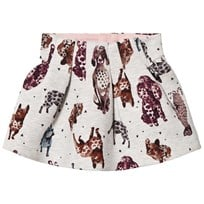 Catimini Grey Dog Print Skirt 25