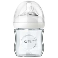 Philips Avent Natural Glass Feeding Bottle 120 ml (4 oz) 0M+ Beige