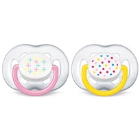 Philips Avent 2-Pack Freeflow Nappar 6-18M Rosa Pink
