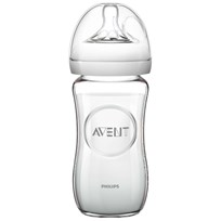 Philips Avent Natural Glass Feeding Bottle 240 ml (8 oz) 0M+ Beige