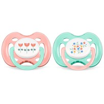 Philips Avent Freeflow Soother 0-6M 2 Pack Vintage Pink Pink