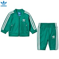 adidas Originals Mesh Infant Tracksuit Green/White SUB GREEN S13/WHITE