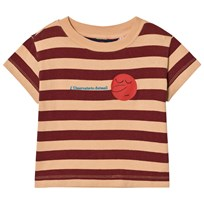 The Animals Observatory Rooster T-Shirt Cream Stripes Cream Stripes