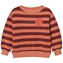 The Animals Observatory Bear Sweatshirt Deep Orange Stripes Deep Orange Stripes