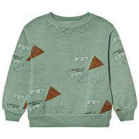 The Animals Observatory Bear Sweatshirt Turquoise Kites Turquoise Kites