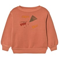 The Animals Observatory Bear Sweatshirt Deep Orange Kite Deep Orange Kite