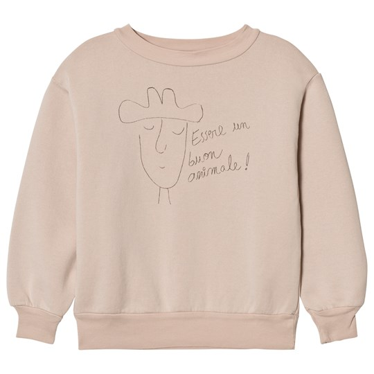 The Animals Observatory Bear Sweatshirt Pink Hat Pink Hat