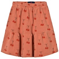 The Animals Observatory Cat Skirt Deep Orange Cherries Deep Orange Cherries