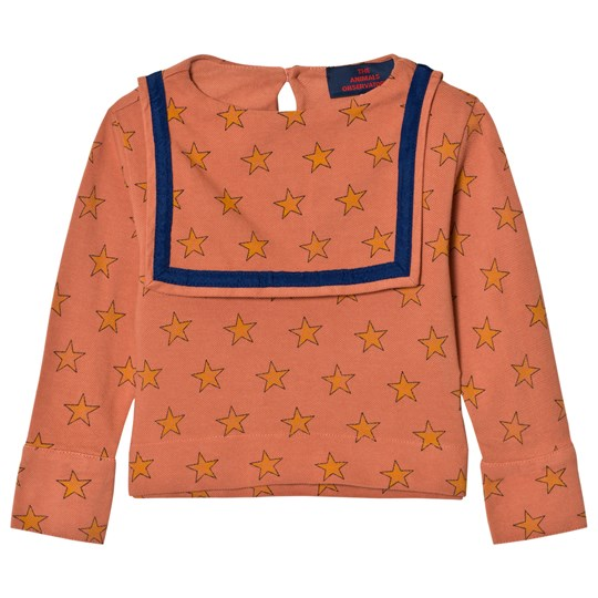 The Animals Observatory Parrot Shirt Deep Orange Stars Deep Orange Stars