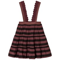 The Animals Observatory Giraffe Skirt Red Garnet Stripes Red Garnet Stripes
