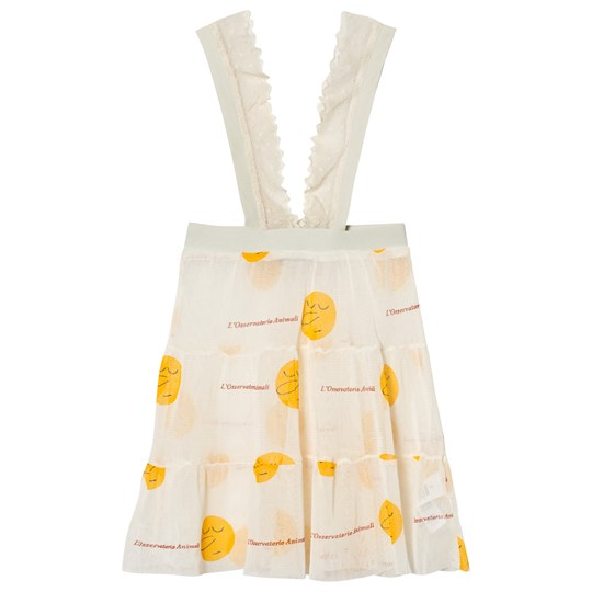 The Animals Observatory Giraffe Skirt Raw White Yellow Face Raw White Yellow Faces