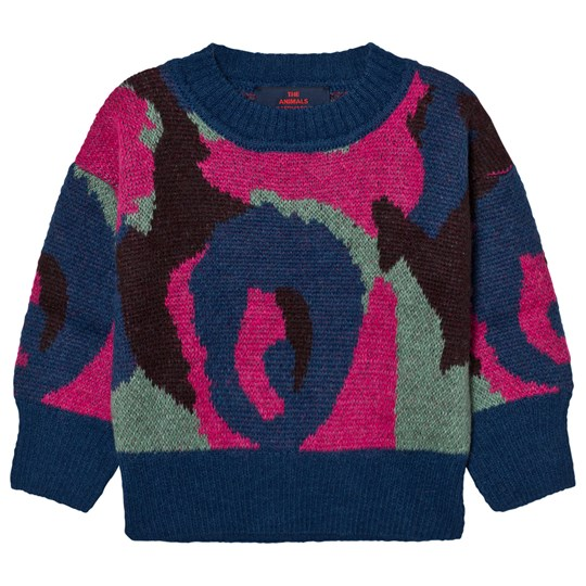 The Animals Observatory Bull Sweater Electric Blue Electric Blue