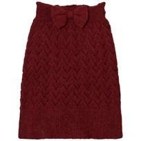 The Animals Observatory Bird Knit Skirt Red Apple Red Apple