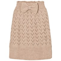 The Animals Observatory Bird Knit Skirt Soft Beige Soft Beige