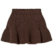 The Animals Observatory Lynx Knit Skirt Deep Brown Deep Brown