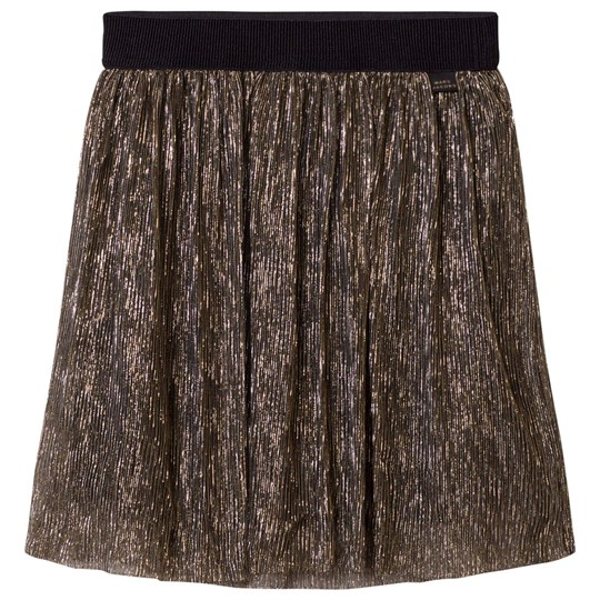 The Marc Jacobs Gold Pleated Midi Skirt M15