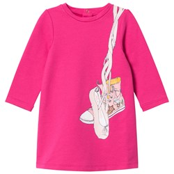 The Marc Jacobs Pink Shoes Jersey Long-Sleeve Dress