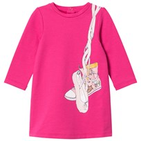 Little Marc Jacobs Pink Shoes Jersey Long-Sleeve Dress 49A
