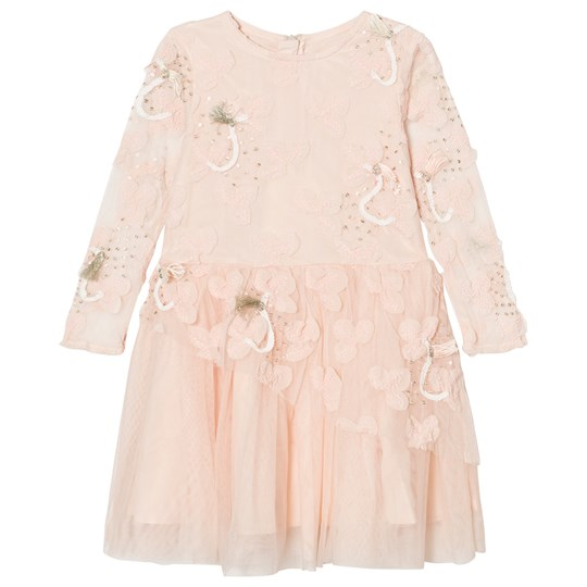 Billieblush Pale Pink Tulle, Sequins Embroidered Dress Z40