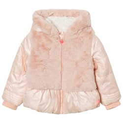 Billieblush Pink Puffer Faux Fur Hooded Coat