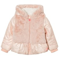 Billieblush Pink Puffer Faux Fur Hooded Coat 450