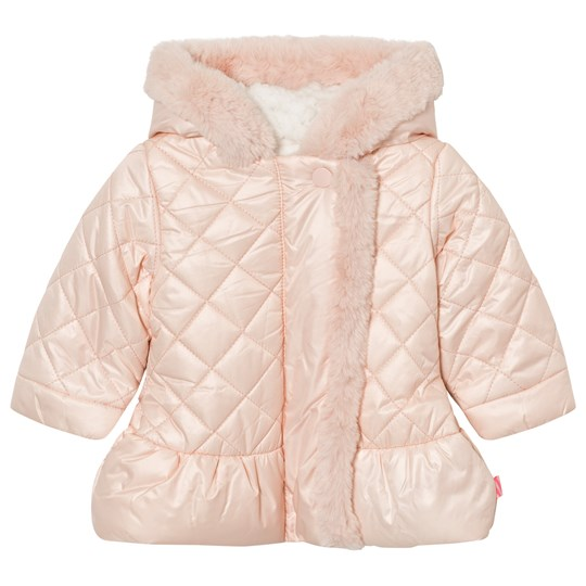 Billieblush Pale Pink Quilted Faux Fur Lined Hooded Coat 450
