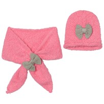 Billieblush Pink Silver Bow Hat Scarf Set 49H