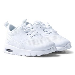 NIKE White Silver Metallic Air Max Thea Sneakers