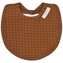 Tinycottons Grid Bib Brown/Black Brown / Black