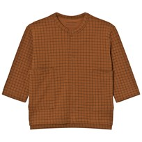 Tinycottons Grid Cardigan Brun/Svart Brown / Black