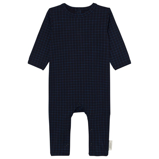Tinycottons Grid One-Piece Dark Navy/Blue Dark Navy / Blue