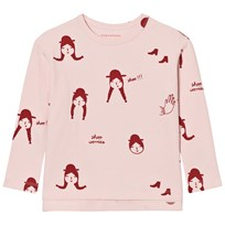 Tinycottons No-Worry Dolls Relaxed Tee Pale Pink/Red Pale Pink / Red