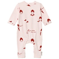 Tinycottons No-Worry Dolls Baby Bodysuit Ljusrosa/Röd Pale Pink / Red