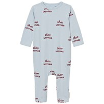 Tinycottons Shoo Worries Baby Bodysuit Ljusblå/Bordeaux Light Blue / Bordeaux