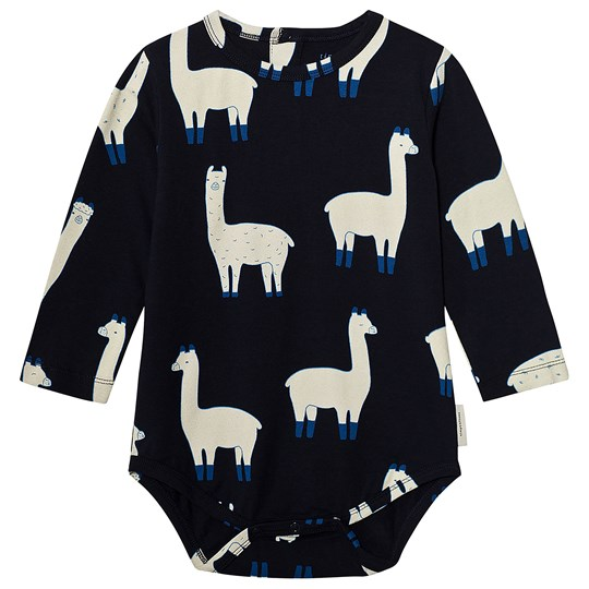 Tinycottons Llamas Long Sleeve Body Dark Navy/Beige Dark Navy / Beige