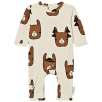 Tinycottons Llama Heads One-Piece Beige/Brown Beige / Brown