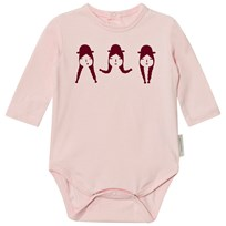 Tinycottons No-Worry Graphic Long Sleeve Baby Body Light Pink/Bordeaux Light Pink / Bordeaux