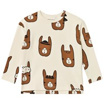 Tinycottons Llama Heads Relaxed Tee Beige/Brown Beige / Brown